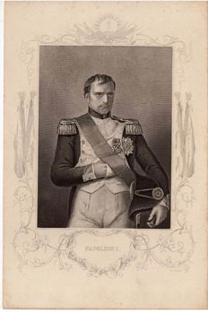 D.J/ Pound after Count D'Orsay 'Napoleon I' - Etching/Engraving