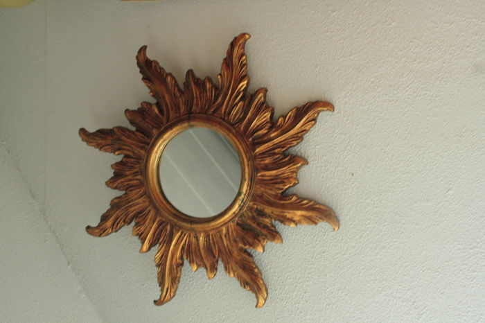 large gilden wooden mirror