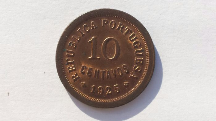Portugal, Republic – 10 Centavos – 1925 – Bronze