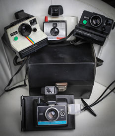 Polaroid Land Camera 1000 , 2000 , Colorpack 2 & Swinger 20  ( lot of 4 cameras )