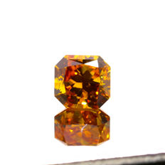 Rare collection stone, 0.50 ct. Natural Orange color Diamond, GIA Certified