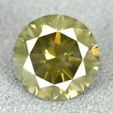 Diamond - 1.73 ct, VS2 – Natural Fancy Dark Yellowish Green