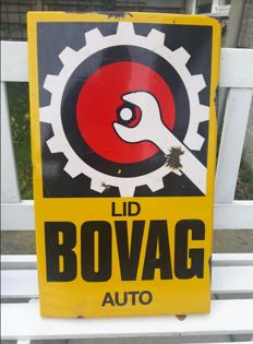 Original enamel Bovag car dealer sign