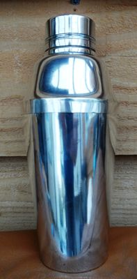 Art Deco Cocktail Shaker Silver Plate