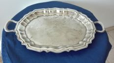 "Elegant old tray with handles ""Royal Sheffield – Royal Family"""
