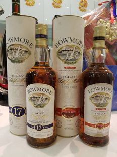 2 bottles - Bowmore Islay 17 years old & Bowmore Dusk Bordeaux Wine Casked