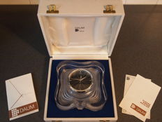 Daum France - crystal Clock, Thor Model 482