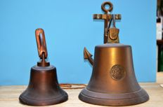 Lot with 2 ship's bells