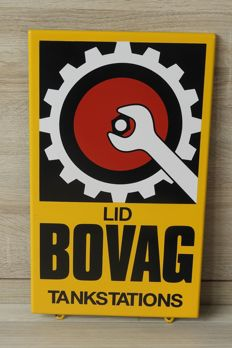 Membership board made of enamel for Bovag - 21st century