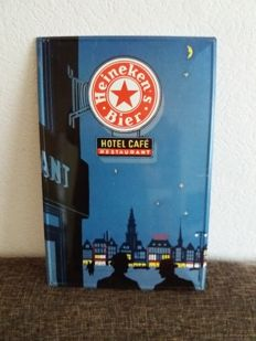 Heineken Beer advertising sign ... Hotel cafe restaurant - 21st century