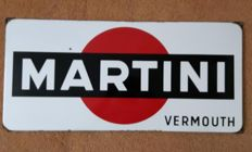 Beautiful original Martini Vermouth enamel sign