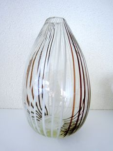 Murano - Vase with bicolored canes