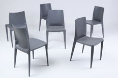 "Mario Bellini for Heller - set of 6 chairs, model: ""Bellini chair"""