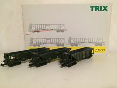 Trix H0 - 23500 - Set of 3 coal cars of the K.Bay.Sts.B.