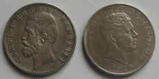 Romania – 5 Lei 1881 B & 100.000 Lei 1946
