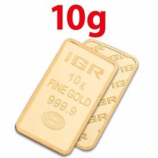 10 Gr Sealed Fine 24 K Bullion Gold Bar *** NO RESERVE  ***