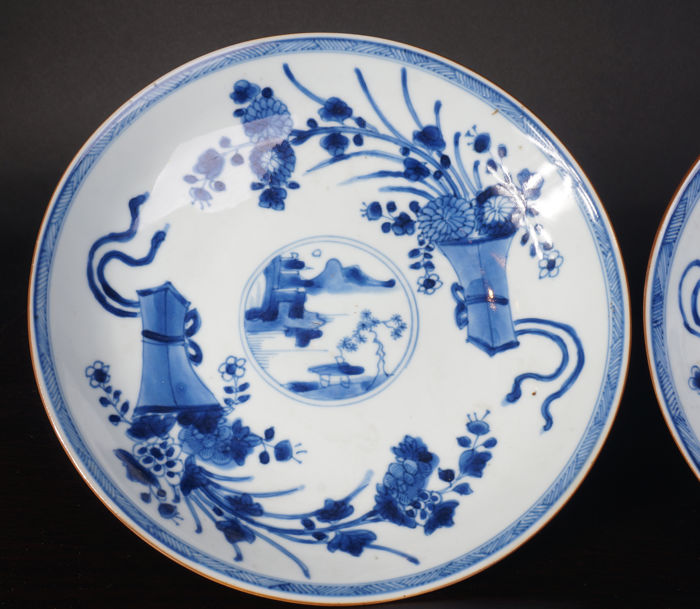 Set of antique blue and white porcelain plates u2013 China u2013 18th Century & Set of antique blue and white porcelain plates u2013 China u2013 18th Century - Catawiki