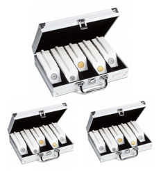 Accessories - Leuchtturm 3 aluminium coffers for storing 1950 coins (coin cases)