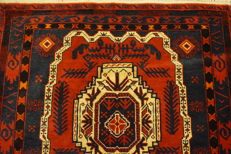Beautiful antique hand-knotted oriental carpet - Baluch - 90 x 140cm