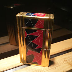 S.T Dupont lighter in limited edition, Mosaic of the  bicentennial of the Revolution 1989, in Chinese lacquer
