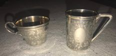 pair of silver cups - early 20th century