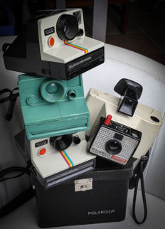 Polaroid Land Camera 1000 & Swinger 20  (lot of 4 cameras)