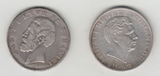 Romania - 5 Lei 1883 + 100,000 Lei 1946 - silver