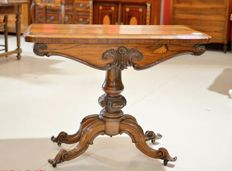 Victorian rosewood card table - ca. 1860