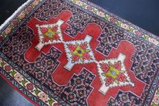 Handwoven original Persian carpet oriental Senneh approx. 110 x 74cm. Good condition, Iran