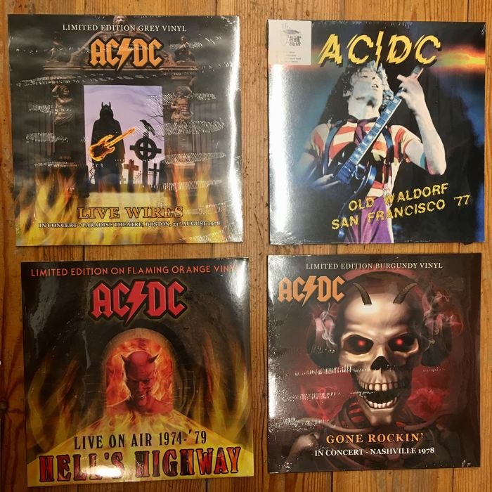 4x AC/DC Live Recordings || Old Waldorf '77, Live Wires '78 & more || All Limited Editions on Colored Vinyl
