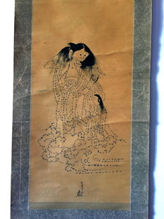 Scroll painting 'Japanese ghost made in Buddhist Sutras' -- Japan -- late 19th century