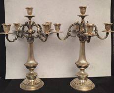 Pair of candelabra by Fratelli Bagliani, Alessandria, 20th century