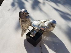 """birds, from Christofle """"lumière"""" silver collection"""