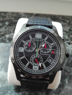 GUCCI 126.2 chronograph, sapphire crystal, Swiss made, 2015, Men's