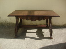 Country Rustic Furniture - Large Wood Table -  Portugal Ca 1940