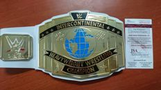 Hulk hogan signature International Heavyweight wrestling champion belt by hand with JSA certificate