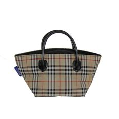 Burberry – Check motif handbag