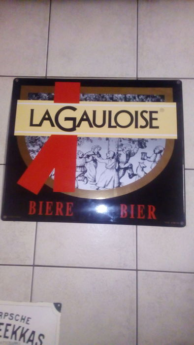 La Gauloise. - Belgian advertising sign from 1992