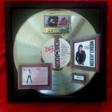 Michael Jackson BAD Platinum Award (8-Million Sold) VINTAGE AWARD 2009
