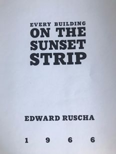 Edward Ruscha (*1937) - Every Building on the Sunset Strip