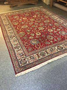 Gorgeous hand-knotted original Persian TABRIZ with plant-based dyes!! approx. 252 x 324 - around 2000 - Persia - Free shipping to Europe.