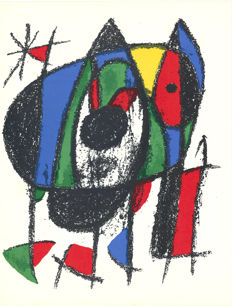 Joan Miró - Litografia originale V, VII and XI