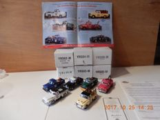 Matchbox - Scale 1/43 - Lot with 6 models: YRS01 t/m YRS06 - Series Fabulous Fiftees