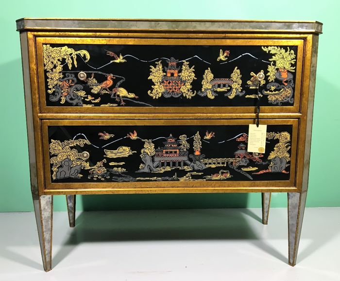 jans2en furniture hand painted and decorated commodo from the chinoiserie series