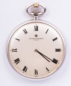 Vacheron Constantin - a superb pocket watch in 18 kt white gold  - in perfect condition - Unisex - 1960-1969