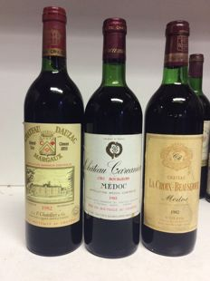 1982 Chateau Dauzac Grand Cru Classe, Margaux x 1 bottle -  1982 Chateau Carcanieux, Medoc x 1 bottle - 1982 Chateau La Croix-Beausejour, Medoc x 1 bottle / 3 bottles 0,75l