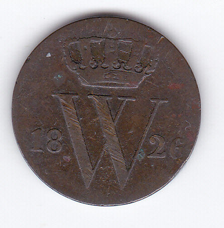 The Netherlands – ½ cent 1826 Utrecht, Willem I – copper