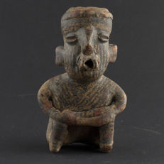 Nayarit Seated Ceramic Terracotta Statue - 13,5 cm