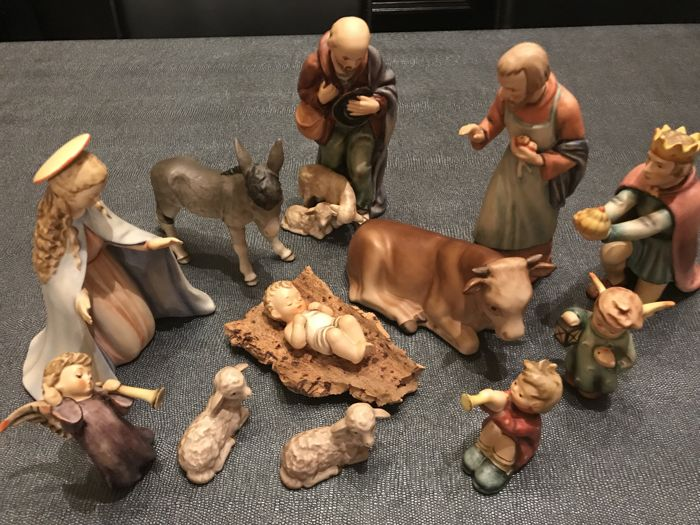 Hummel Goebel - Nativity scene sculptures, series 214, 12 pieces