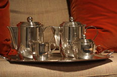 Silver plated Coffee-and tea set, Roelandt